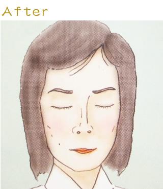 お顔の修整02