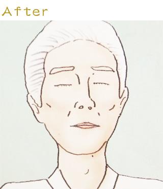 お顔の修整04